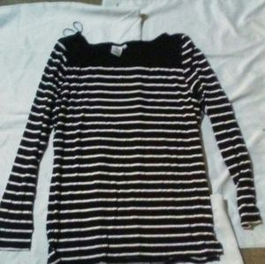 Casual Ladies striped long sleeve shirt